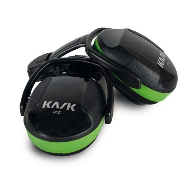Kask Gehörschutzmuscheln, Hearing Protection, SC1, grün-schwarz, SNR < 26 dB, zur Helmbefestigung, EN 352