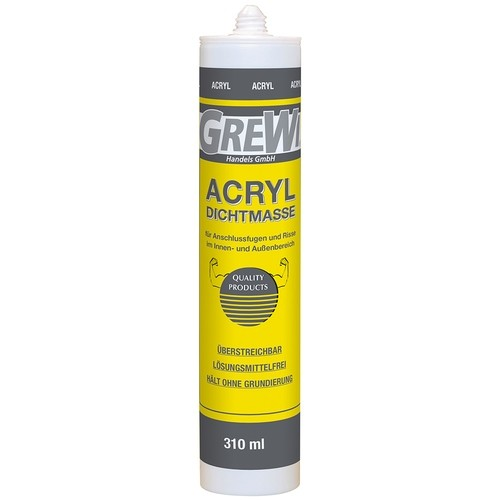 Grewi acrylic sealant, white, joint sealant UV and frost resistant, 310 ml