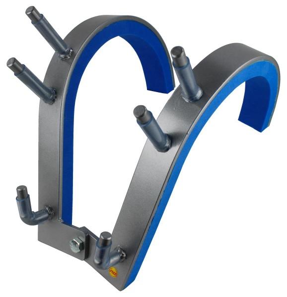 Robert Baraban Zercher Harness Medium, Front Squat Harness, Front Squat Training Device, Grey-Blue