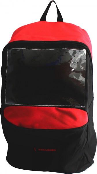 Kratos Rucksack für Absturzsicherungsutensilien, Transportrucksack, 12 Liter, schwarz-rot
