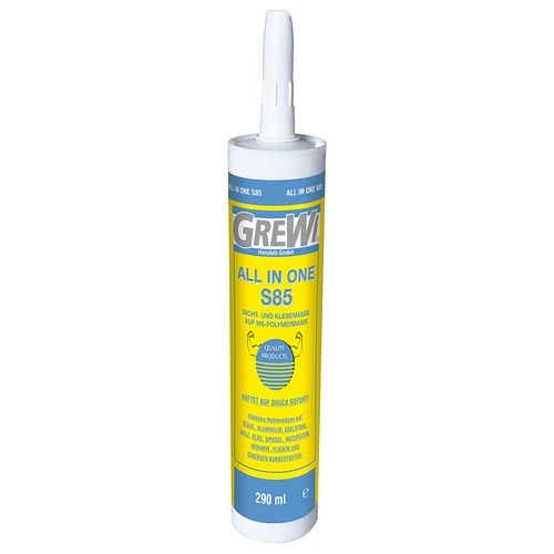 Grewi All in one S85 assembly adhesive, construction adhesive with high initial adhesive strength, 290 ml cartridge