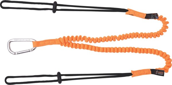 Kratos forked stretch lanyard for connecting tools, 1,30 m, tool load 2 x 5 kg