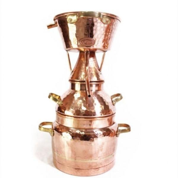 CopperGarden Alquitara Distillerie, 3 litres, pour les huiles essentielles, forgée à la main, cuivre