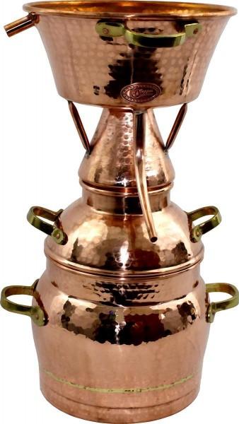 CopperGarden Alquitara Distillerie, 10 litres, pour les huiles essentielles, forgée à la main cuivre