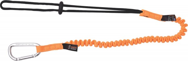 Kratos stretch lanyard for connecting tools, 1,30 m, tool load 5 kg