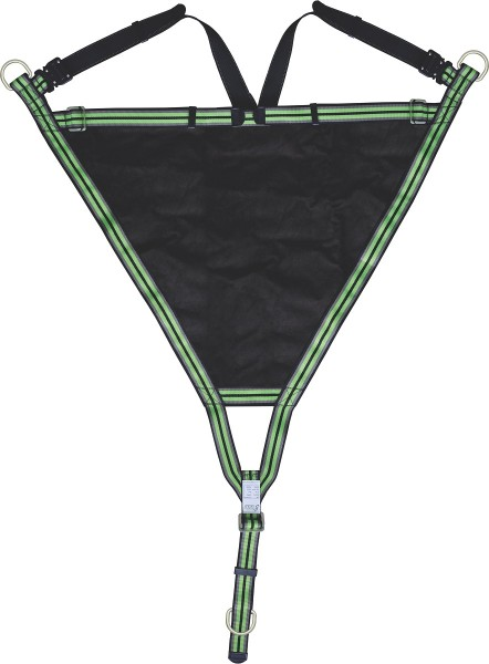 Kratos Evacuation Triangle with metallic D-rings and adjustable shoulder straps, universal size, EN1498