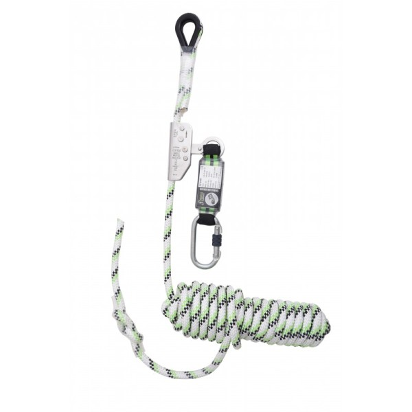 Kratos Guided Type Fall Arrester on kernmantle rope 20 metres with an energy absorber, EN353-2