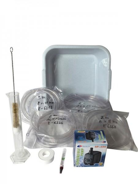 Set d'accessoires, set d'eau de refroidissement avec pompe pour les distilleries jusqu'à 3 litres
