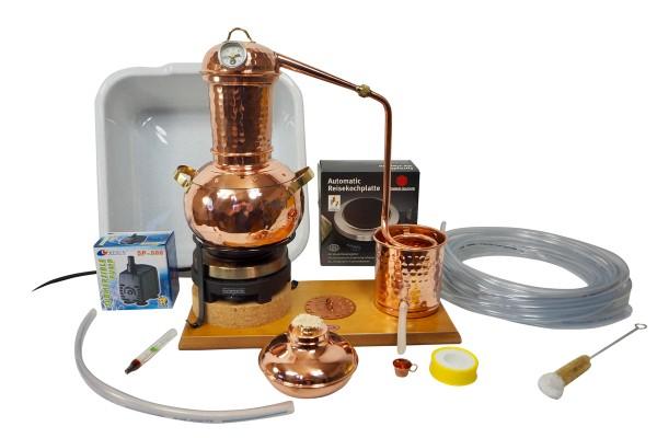 CopperGarden Distillery Arabia 2 litre tabletop distillery made of copper, distilling unit in complete set