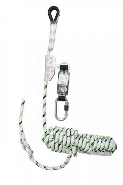 Kratos guided-type fall arrester on kernmantle rope 10 m, with energy absorber, EN353-2