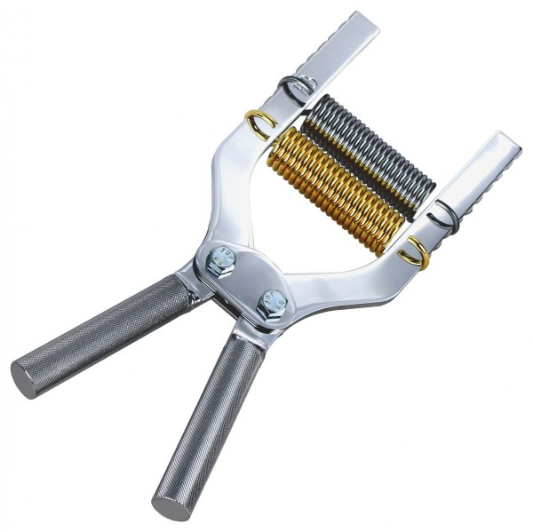 Robert Baraban Hand Gripper, adjustable with 2 springs, chrome, double mounted