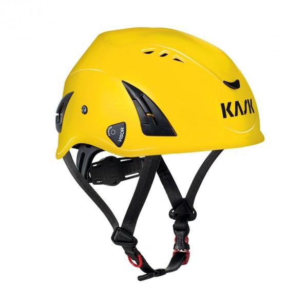 Kask casque de sécurité, casque industriel, HP-High Performance, jaune, avec ventilation, EN14052, Taille: 51-62 cm