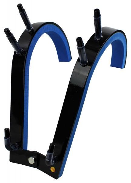 Robert Baraban Zercher Harness Large, Front Squat Harness, Kniebeugen Trainingsgerät, Schwarz-Blau