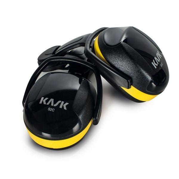 Kask Gehörschutzmuscheln, Hearing Protection, SC2, gelb-schwarz, SNR 26-30 dB, zur Helmbefestigung, EN 352