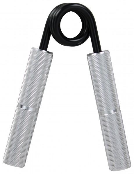 Go Strong Aluminium Handtrainer für maximale Griffkraft - Unterarmtrainer mit Griffpolster, Feder aus schwarzen gehärtetem Stahl, Handmuskeltrainer